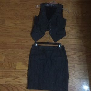 Bebe Suit vest and skirt